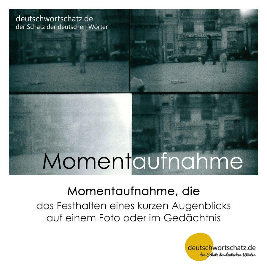 Momentaufnahme - Wortschatz mit Bildern lernen - Deutsch lernen
