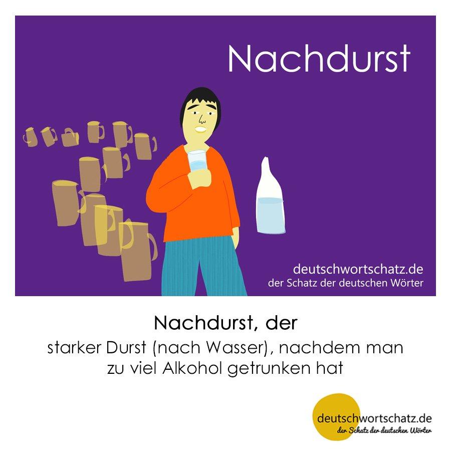 Nachdurst - Wortschatz mit Bildern lernen - Deutsch lernen