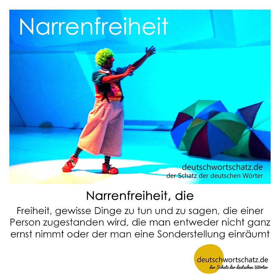 Narrenfreiheit - Wortschatz mit Bildern lernen - Deutsch lernen