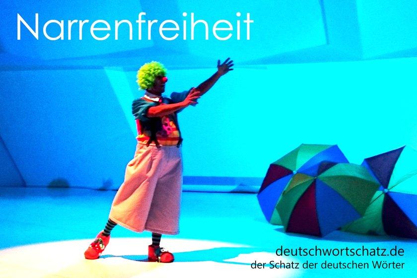 Narrenfreiheit - die schönsten deutschen Wörter