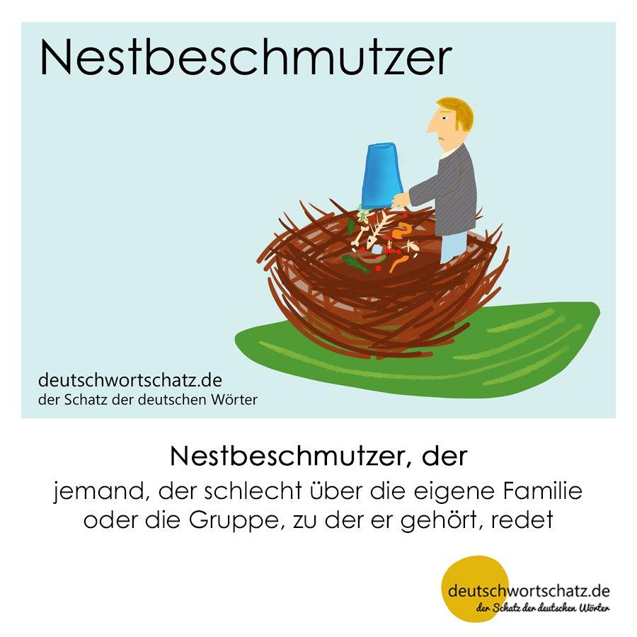 Nestbeschmutzer - Wortschatz mit Bildern lernen - Deutsch lernen