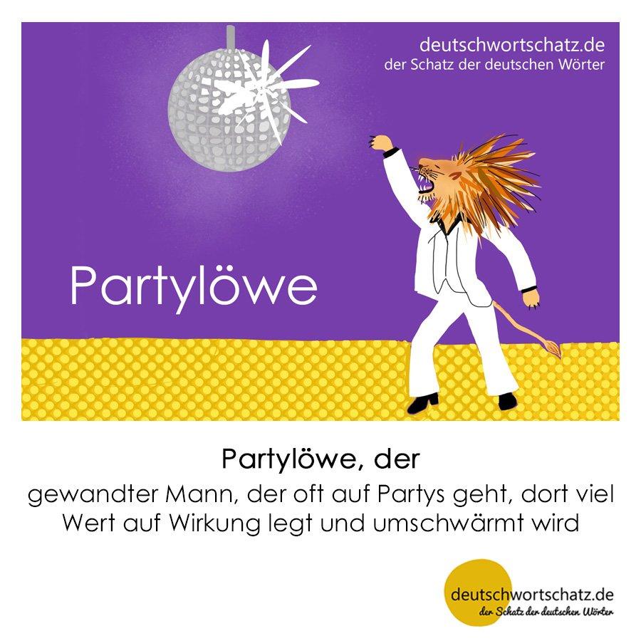 Partylöwe - Wortschatz mit Bildern lernen - Deutsch lernen