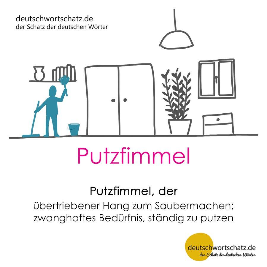 Putzfimmel - Wortschatz mit Bildern lernen - Deutsch lernen
