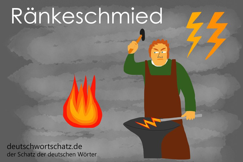 Ränkeschmied - die schönsten deutschen Wörter - Berufe Deutsch Wortschatz