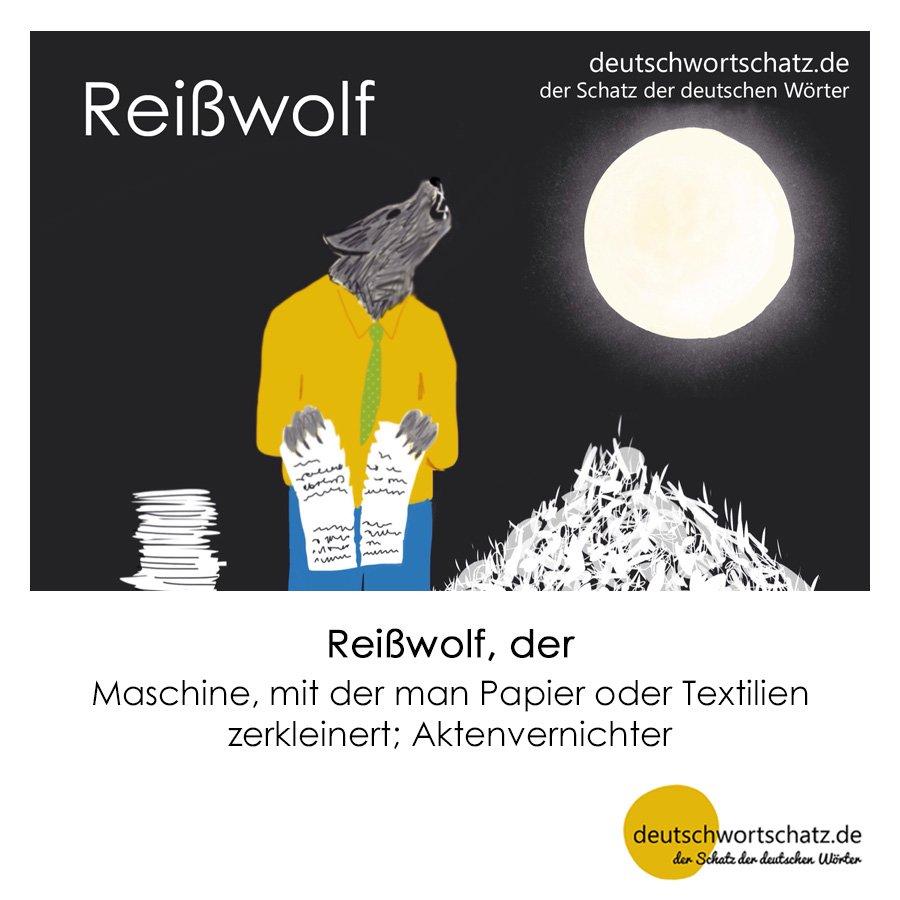 Reißwolf - Wortschatz mit Bildern lernen - Deutsch lernen
