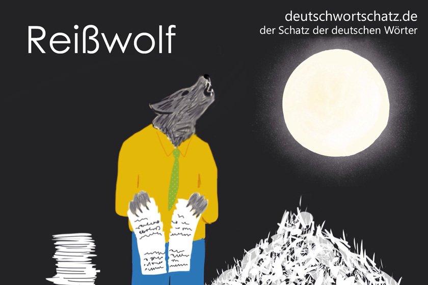 Reißwolf - die schönsten deutschen Wörter- Tiere auf Deutsch
