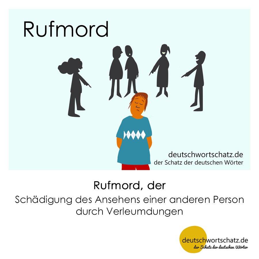 Rufmord - Wortschatz mit Bildern lernen - Deutsch lernen