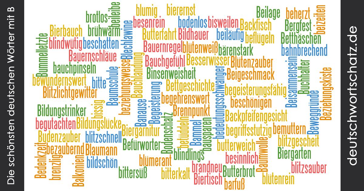 Schöne deutsche Wörter mit B - Deutsch Wortschatz - schönste Wörter - Deutsch lernen - liebe Deutsch