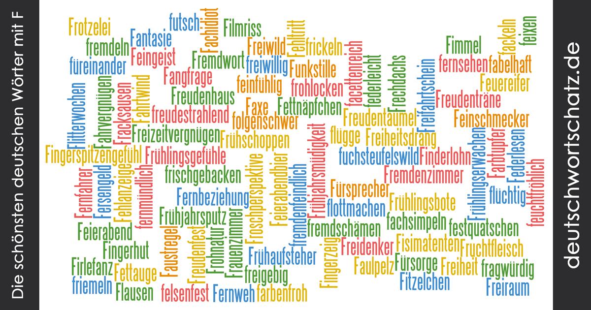 Schöne deutsche Wörter mit F - Deutsch Wortschatz - schönste Wörter - Deutsch lernen - liebe Deutsch