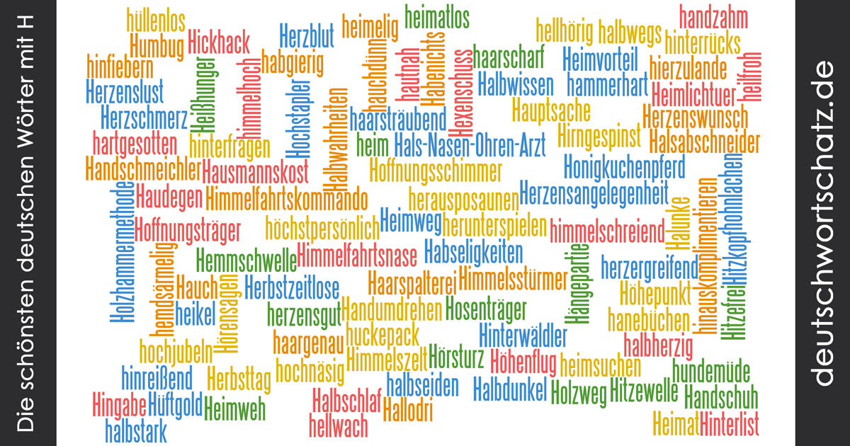 Schöne deutsche Wörter mit H - Deutsch Wortschatz - schönste Wörter - Deutsch lernen - liebe Deutsch