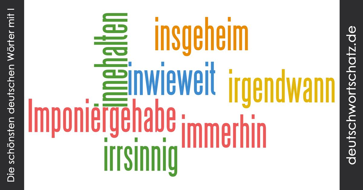 Schöne deutsche Wörter mit I - Deutsch Wortschatz - schönste Wörter - Deutsch lernen - liebe Deutsch