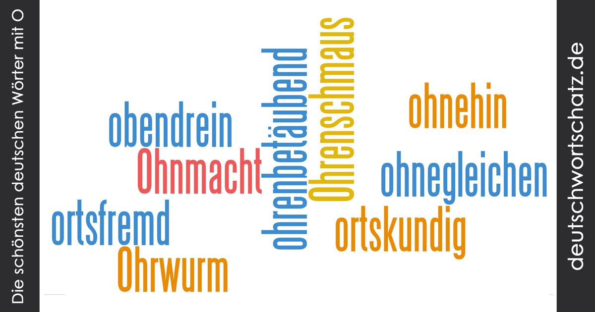 Schöne deutsche Wörter mit O - Deutsch Wortschatz - schönste Wörter - Deutsch lernen - liebe Deutsch