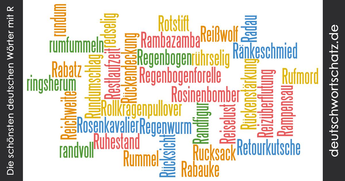 Schöne deutsche Wörter mit R - Deutsch Wortschatz - schönste Wörter - Deutsch lernen - liebe Deutsch