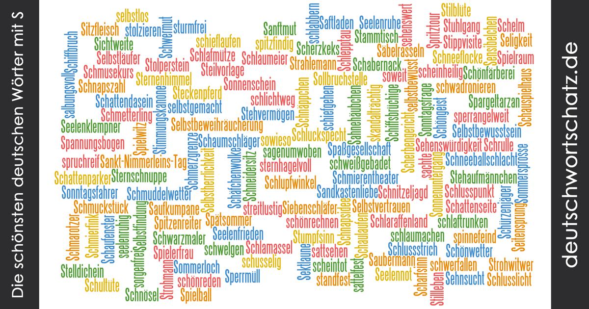 Schöne deutsche Wörter mit S - Deutsch Wortschatz - schönste Wörter - Deutsch lernen - liebe Deutsch