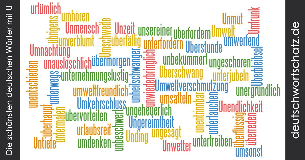 Schöne deutsche Wörter mit U - Deutsch Wortschatz - schönste Wörter - Deutsch lernen - liebe Deutsch