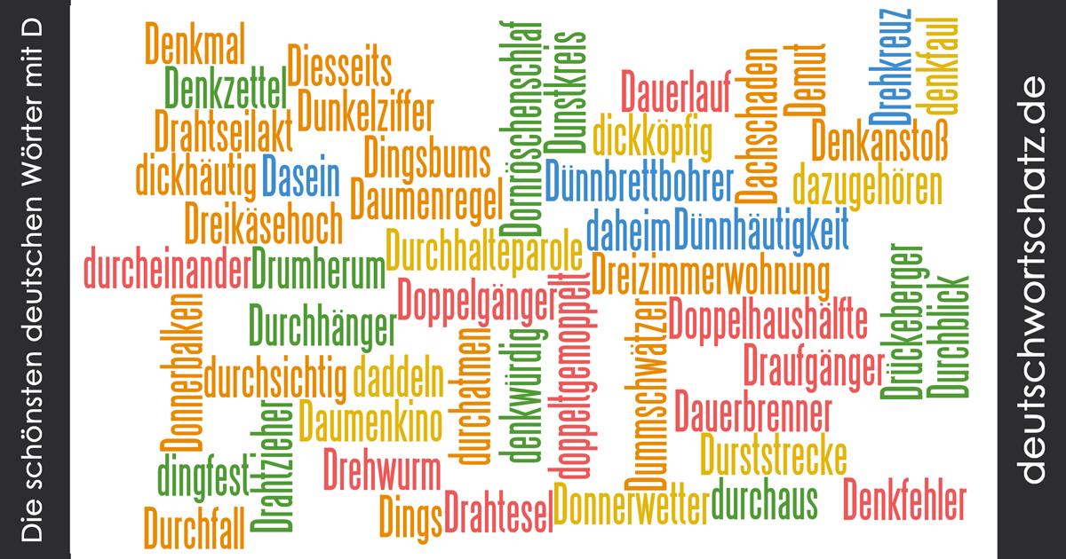 Schöne deutsche Wörter mit D - Deutsch Wortschatz - schönste Wörter - Deutsch lernen - liebe Deutsch