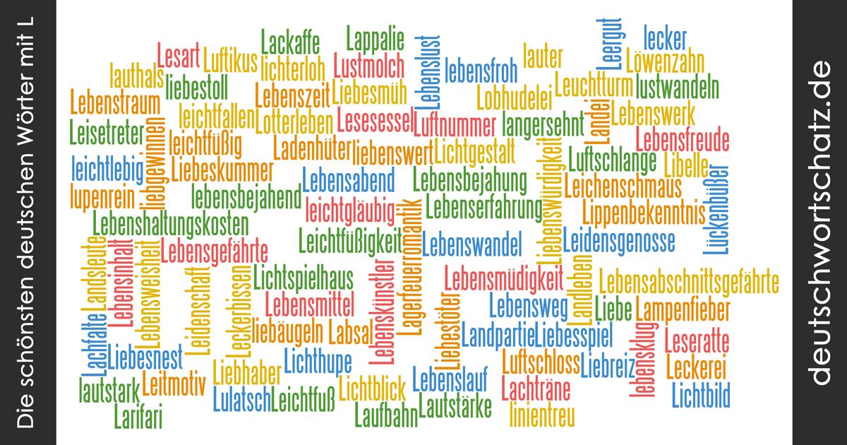 Schöne deutsche Wörter mit L - Deutsch Wortschatz - schönste Wörter - Deutsch lernen - liebe Deutsch