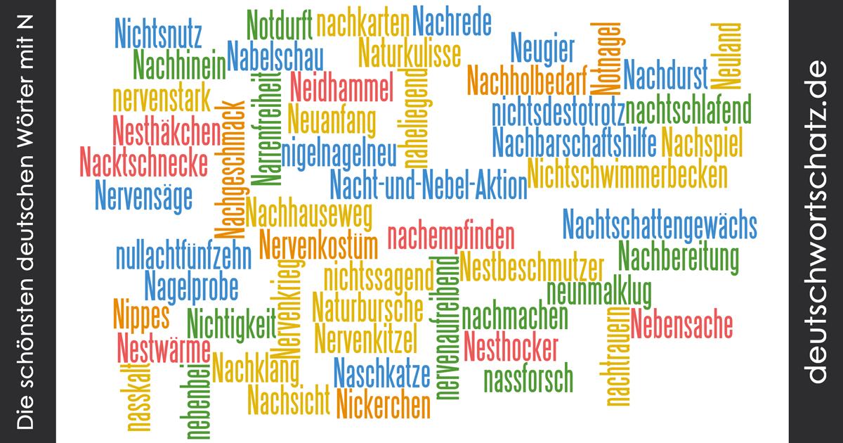 Schöne deutsche Wörter mit N - Deutsch Wortschatz - schönste Wörter - Deutsch lernen - liebe Deutsch