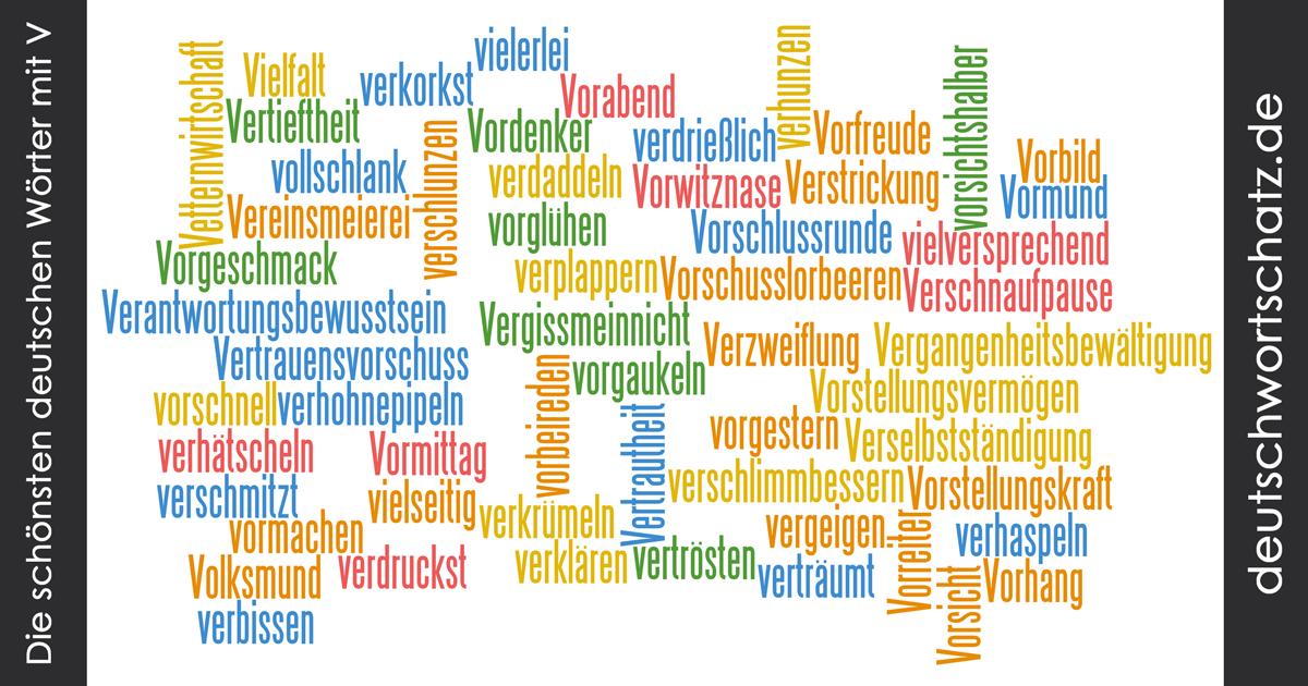 Schöne deutsche Wörter mit V - Deutsch Wortschatz - schönste Wörter - Deutsch lernen - liebe Deutsch
