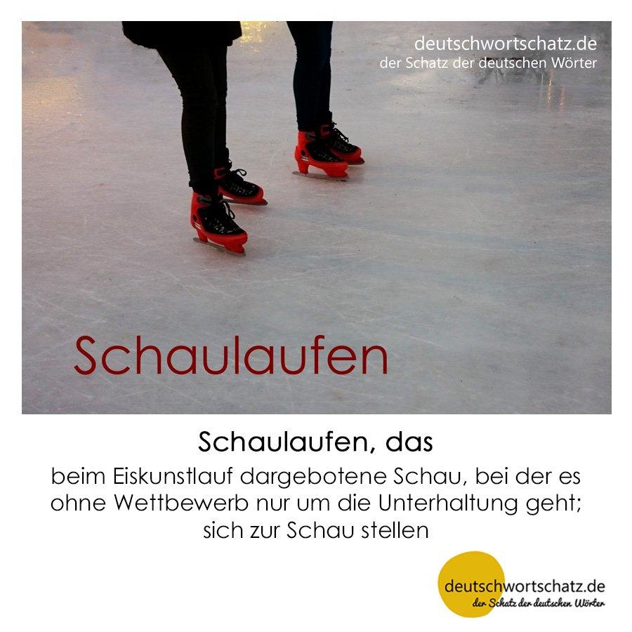 Schaulaufen - Wortschatz mit Bildern lernen - Deutsch lernen
