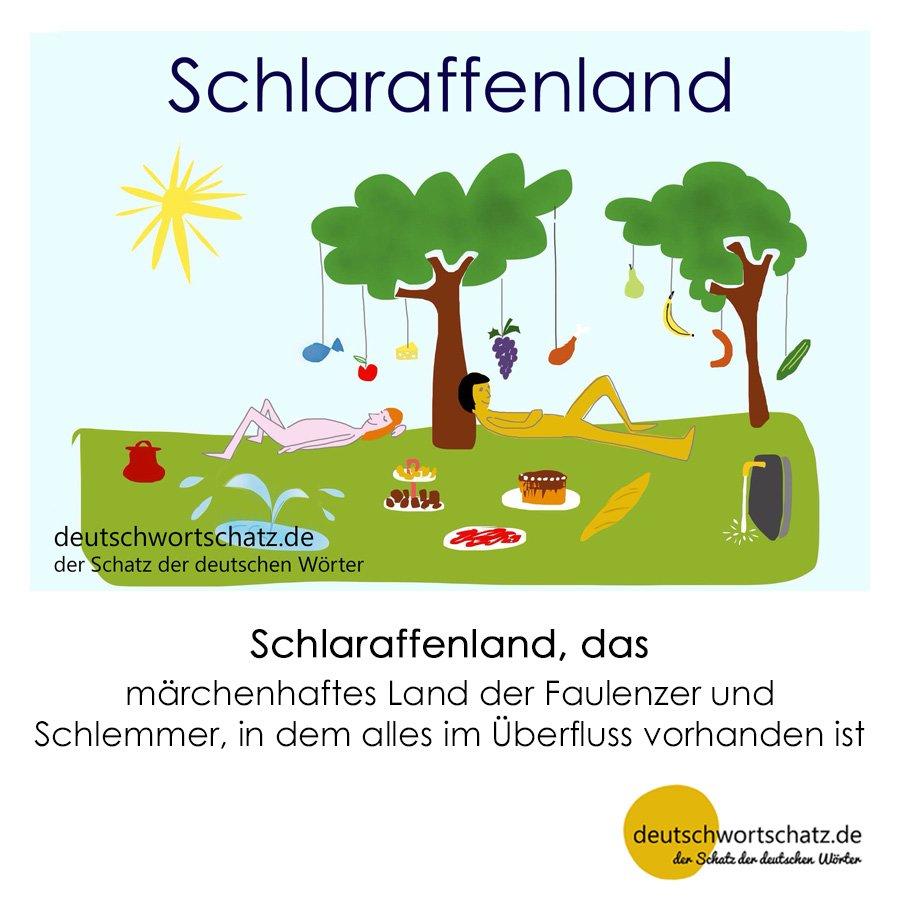 Schlaraffenland - Wortschatz mit Bildern lernen - Deutsch lernen