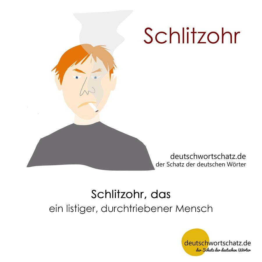Schlitzohr - Wortschatz mit Bildern lernen - Deutsch lernen