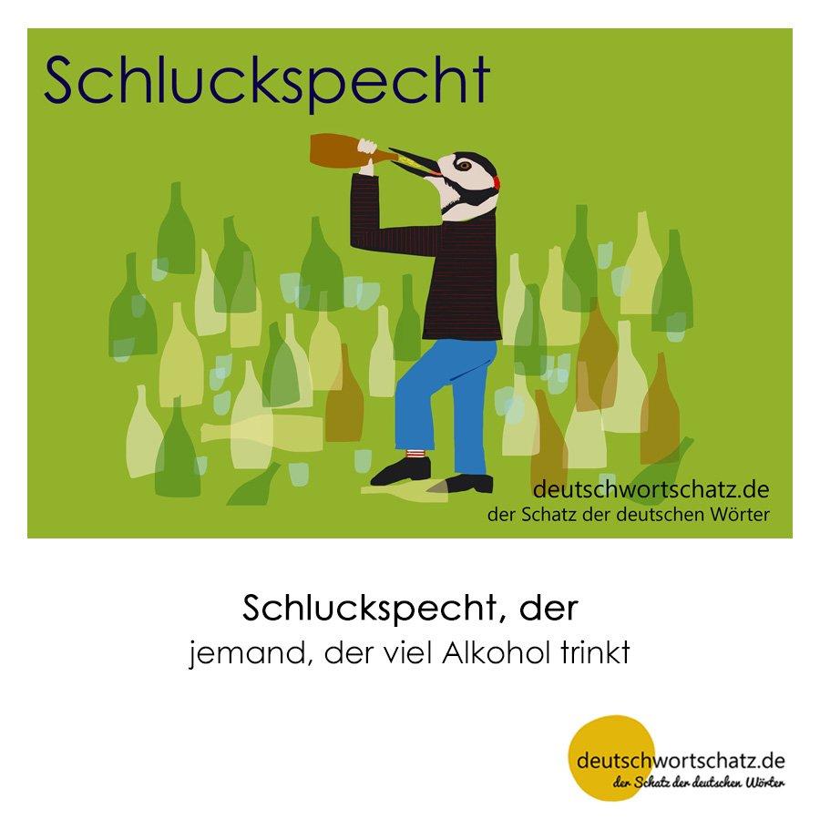 Schluckspecht - Wortschatz mit Bildern lernen - Deutsch lernen
