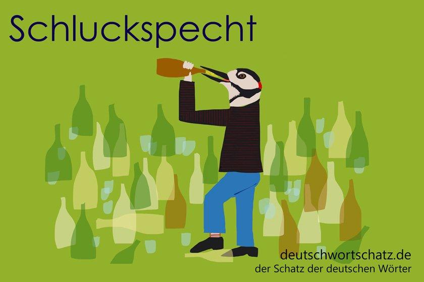 Schluckspecht - die schönsten deutschen Wörter- Tiere auf Deutsch