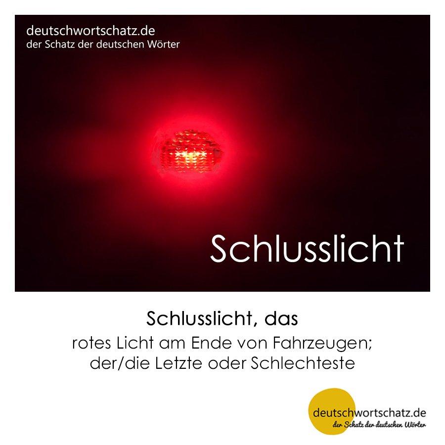 Schlusslicht - Wortschatz mit Bildern lernen - Deutsch lernen