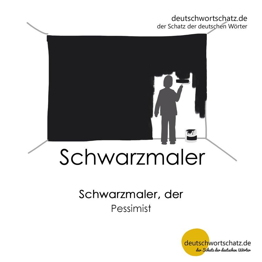 Schwarzmaler - Wortschatz mit Bildern lernen - Deutsch lernen