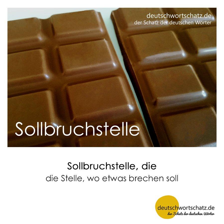 Sollbruchstelle - Wortschatz mit Bildern lernen - Deutsch lernen