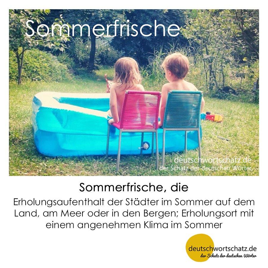 Sommerfrische - Wortschatz mit Bildern lernen - Deutsch lernen