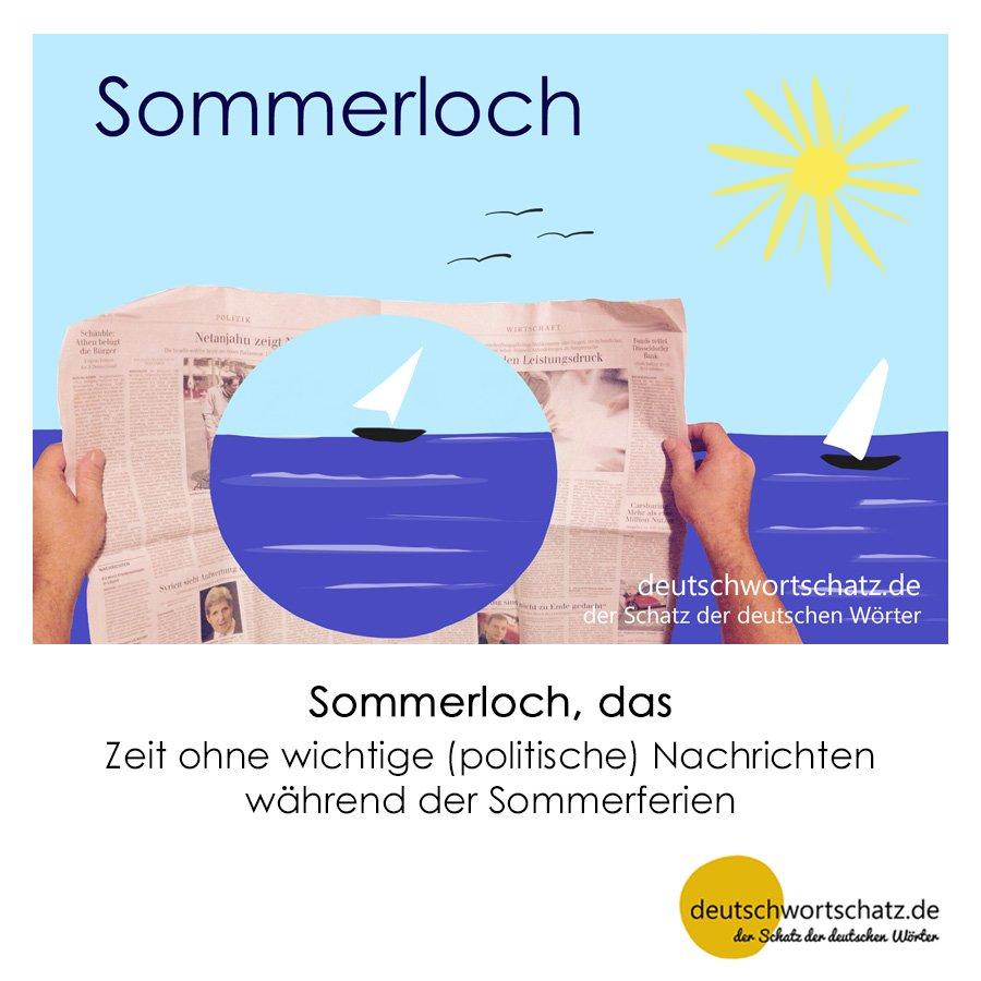 Sommerloch - Wortschatz mit Bildern lernen - Deutsch lernen