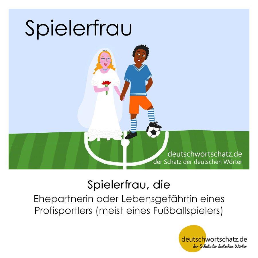 Spielerfrau - Wortschatz mit Bildern lernen - Deutsch lernen
