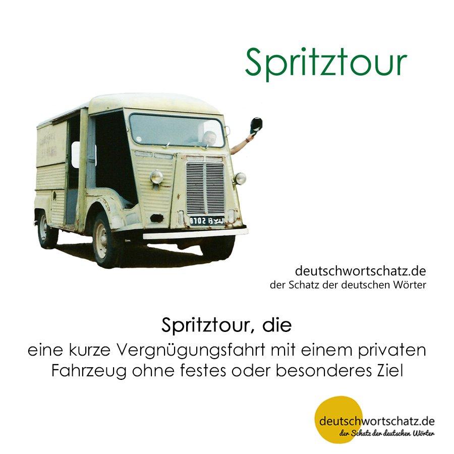 Spritztour - Wortschatz mit Bildern lernen - Deutsch lernen