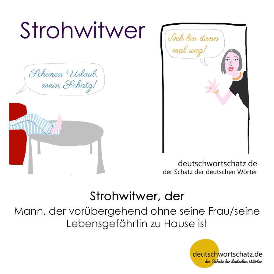 Strohwitwer - Wortschatz mit Bildern lernen - Deutsch lernen