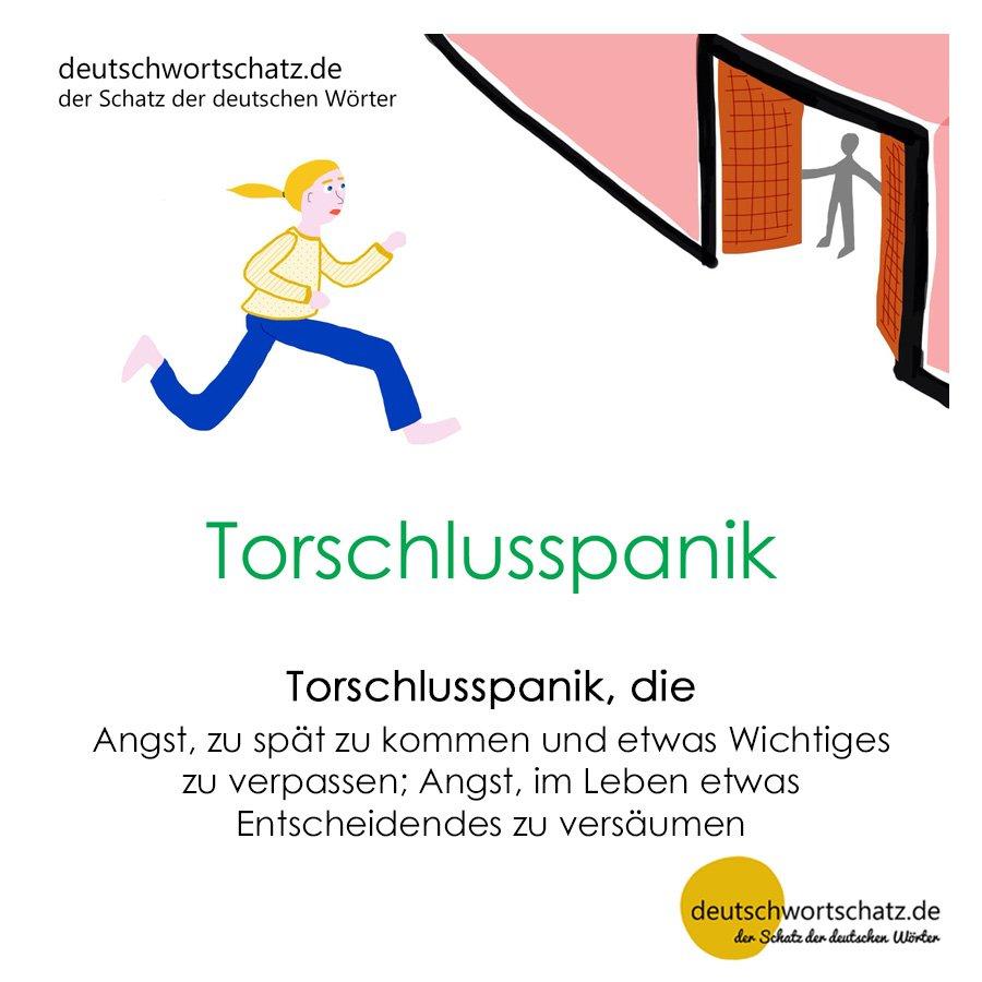 Torschlusspanik - Wortschatz mit Bildern lernen - Deutsch lernen