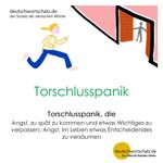 Torschlusspanik - deutsche Wörter - deutschwortschatz