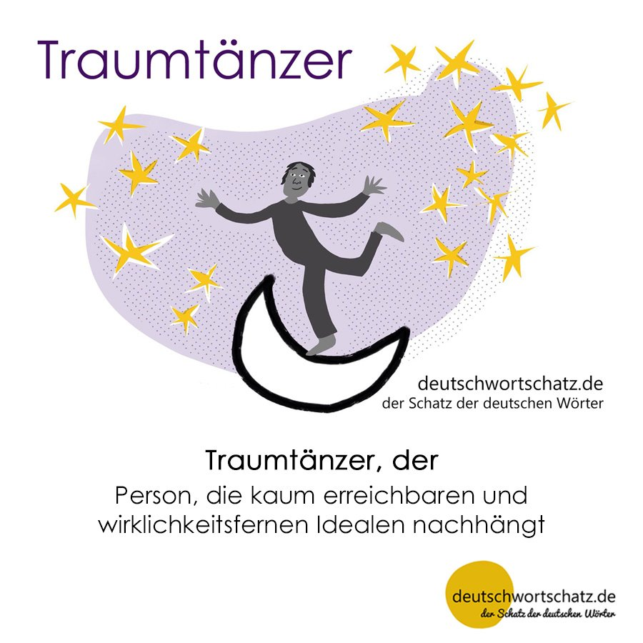 Traumtänzer - Wortschatz mit Bildern lernen - Deutsch lernen