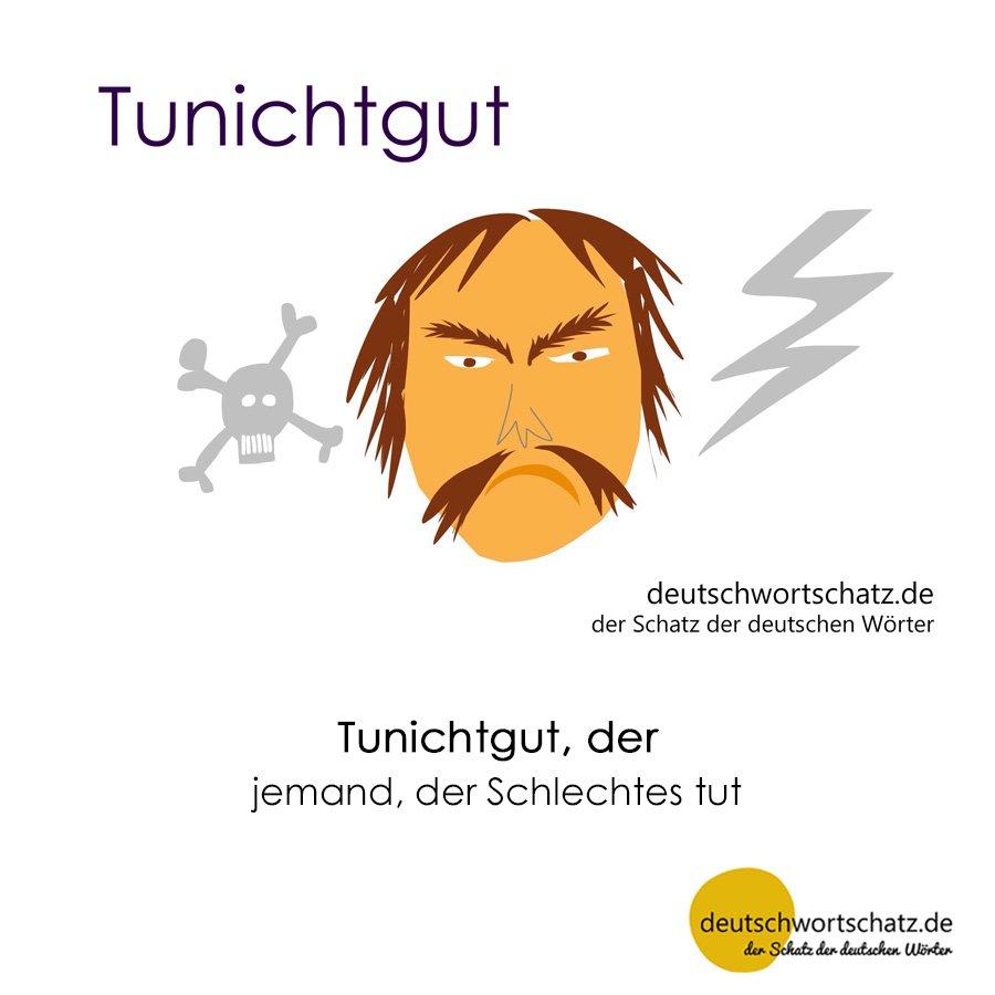Tunichtgut - Wortschatz mit Bildern lernen - Deutsch lernen
