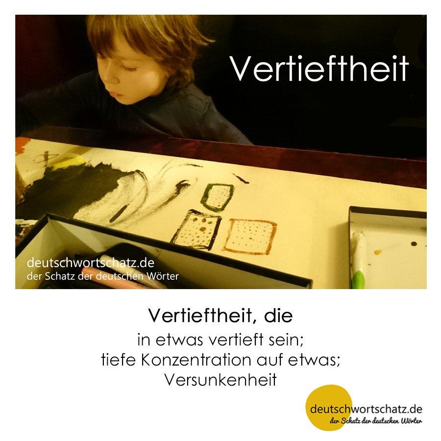Vertieftheit - Wortschatz mit Bildern lernen - Deutsch lernen