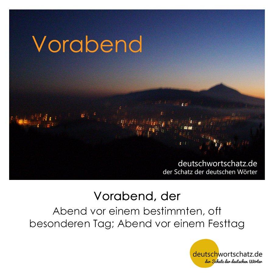 Vorabend - Wortschatz mit Bildern lernen - Deutsch lernen