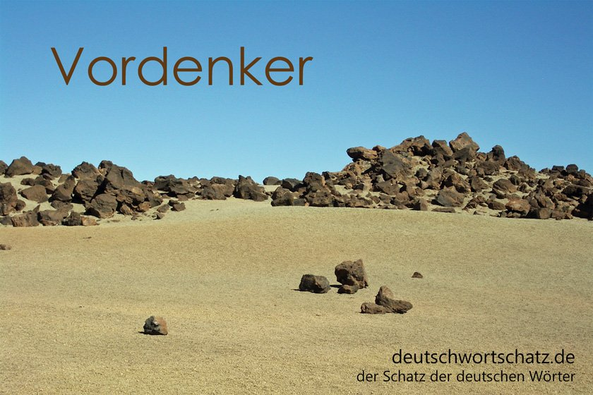 Vordenker - Vordenkerin - Definition - Wortschatz