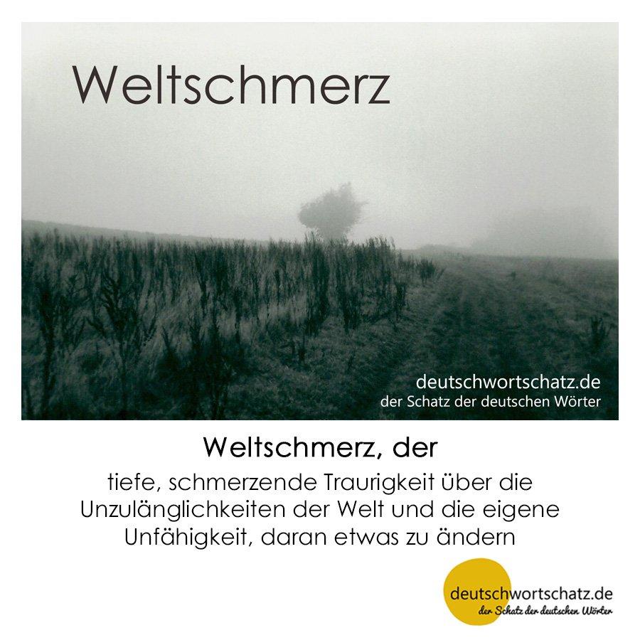 Weltschmerz - Wortschatz mit Bildern lernen - Deutsch lernen