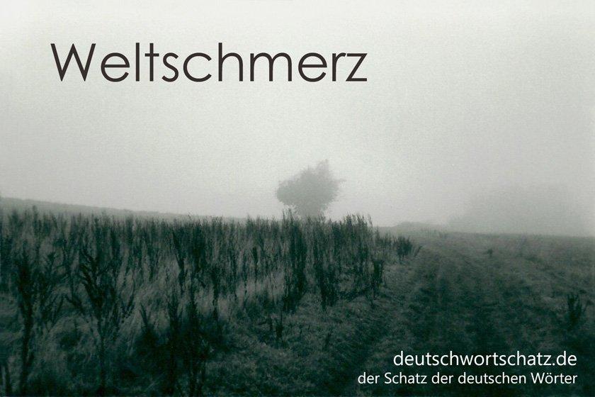 Weltschmerz - die schönsten deutschen Wörter