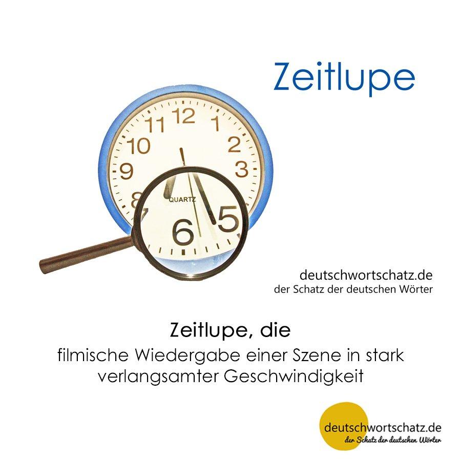 Zeitlupe - Wortschatz mit Bildern lernen - Deutsch lernen