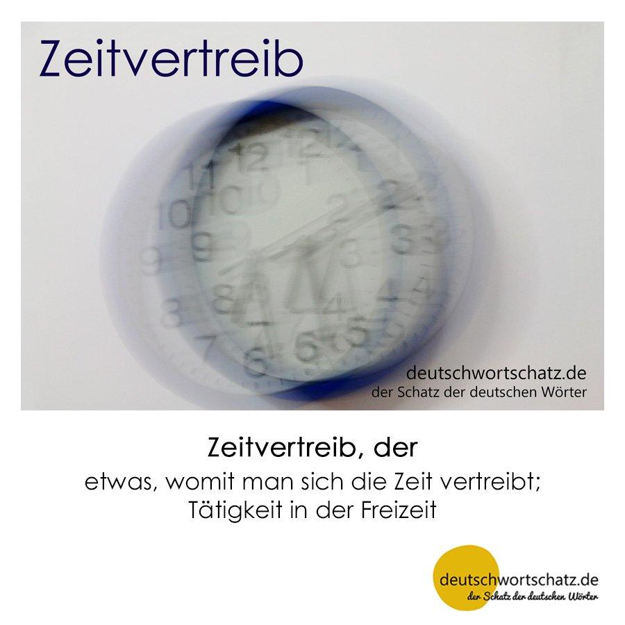 Zeitvertreib - Wortschatz mit Bildern lernen - Deutsch lernen