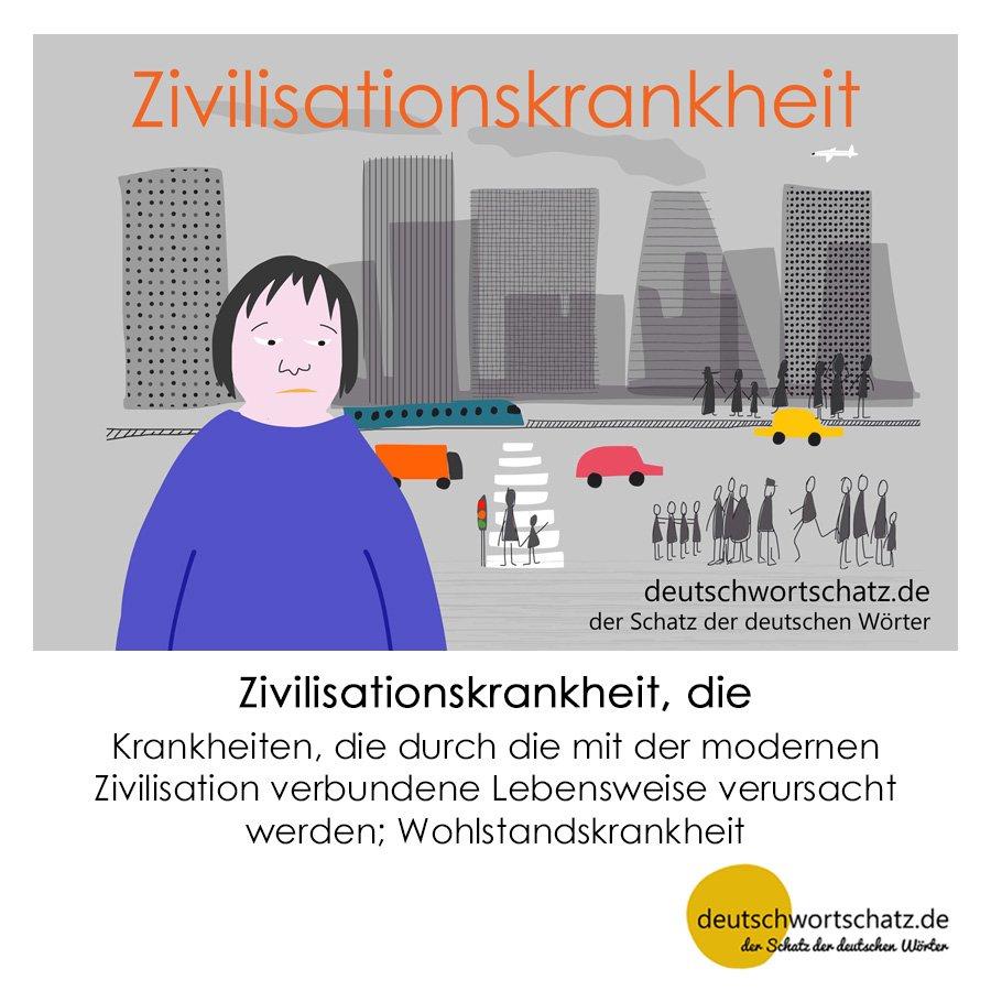 Zivilisationskrankheit - Wortschatz mit Bildern lernen - Deutsch lernen