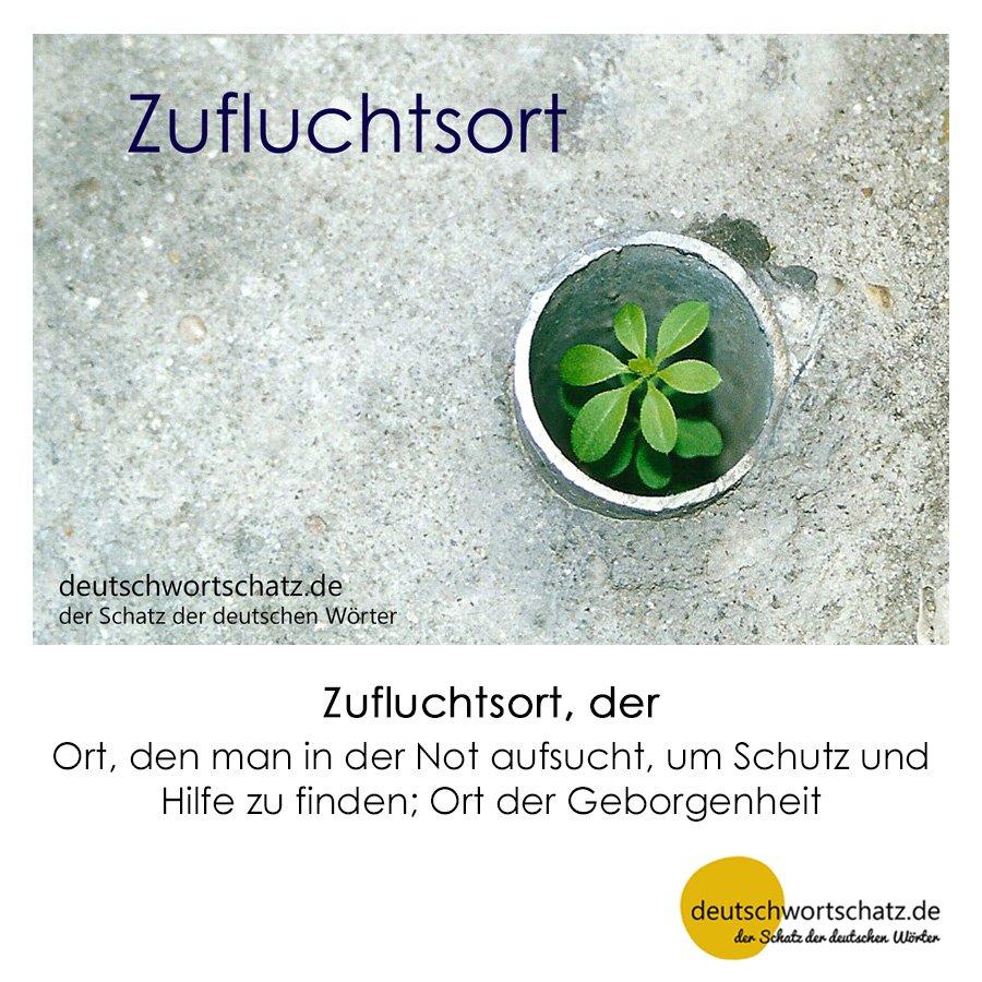 Zufluchtsort - Wortschatz mit Bildern lernen - Deutsch lernen