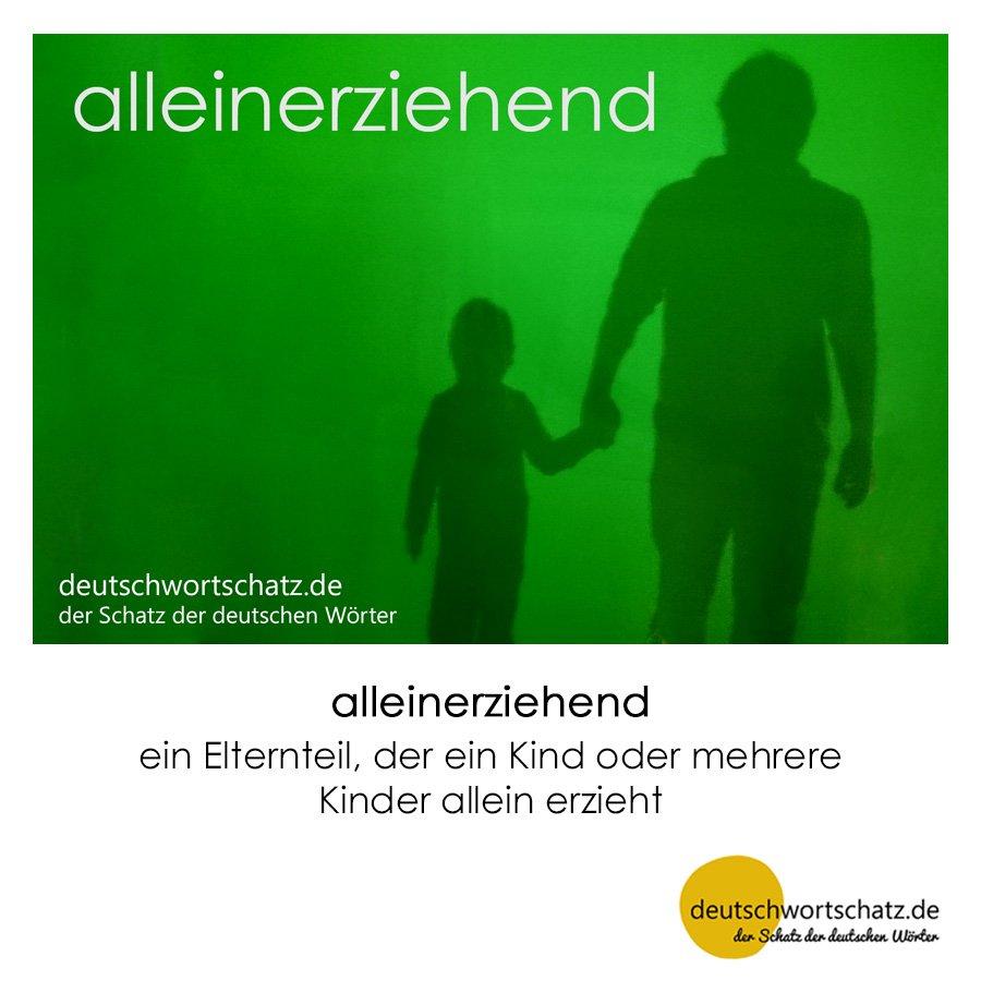 alleinerziehend - Wortschatz mit Bildern lernen - Deutsch lernen